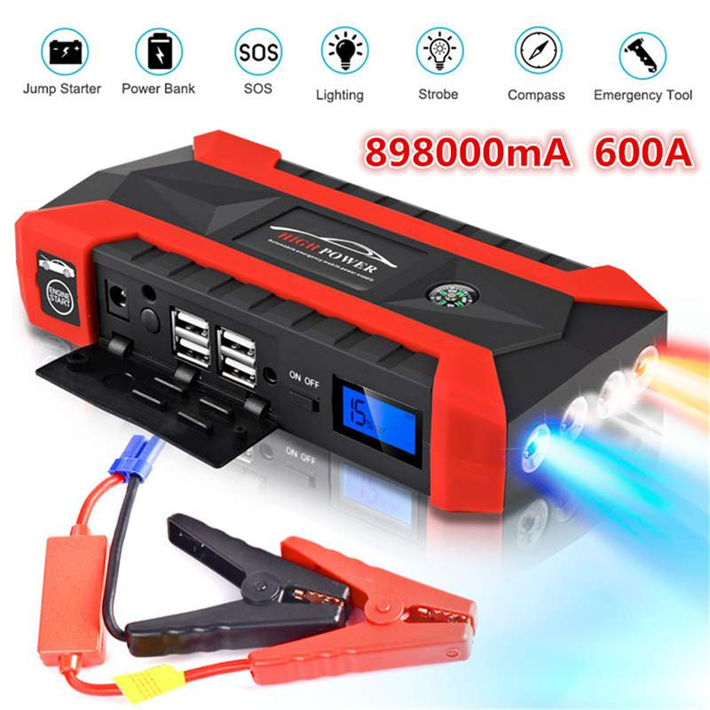89800mAh High Power Car Jump Starter 12V 4USB Portable Starting Device Power Bank Car Charger For Car Battery Booster Buster