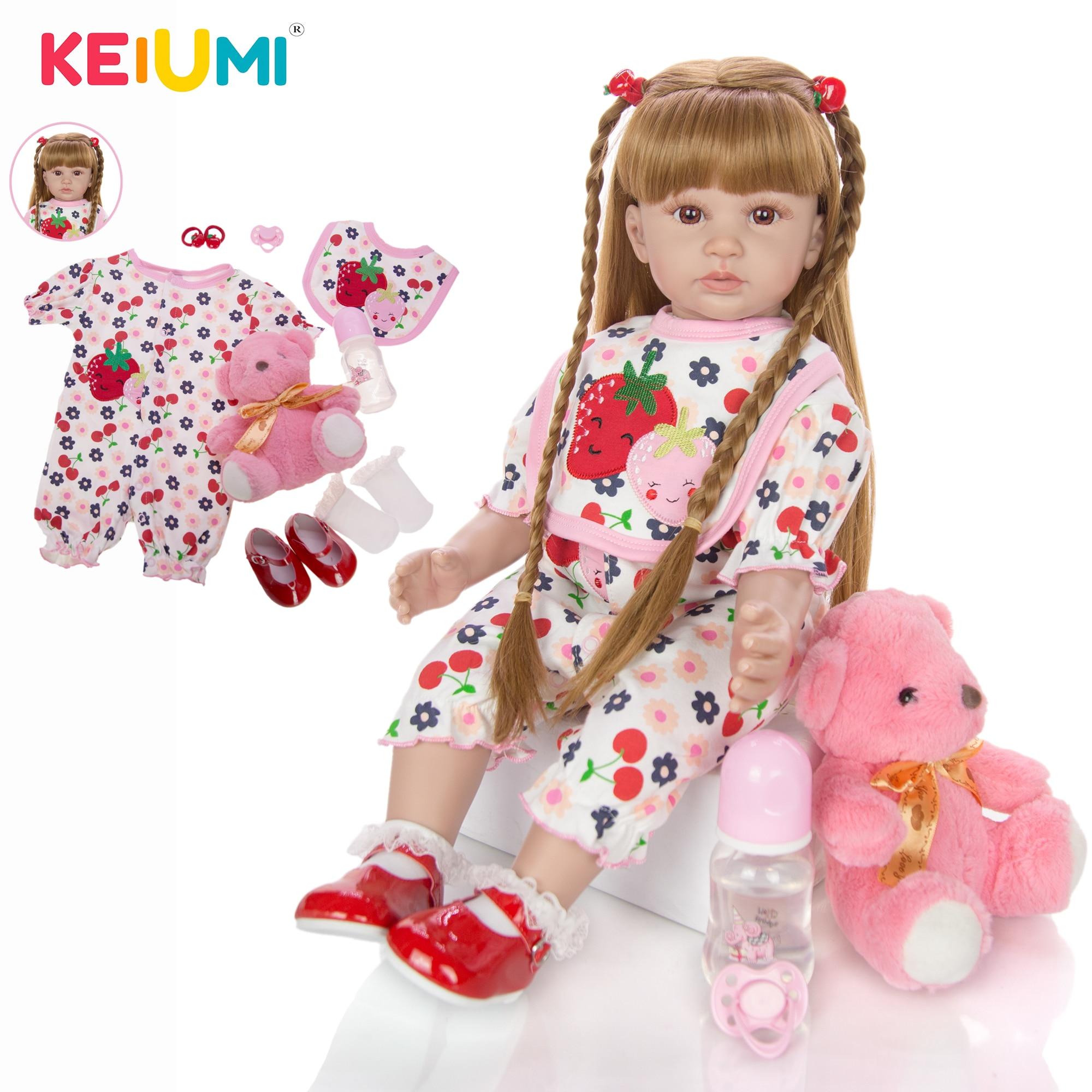 """24/"""" Toddler Alive Doll Reborn Girl 7 Color Flower Princess Dress 4-piece Set"""