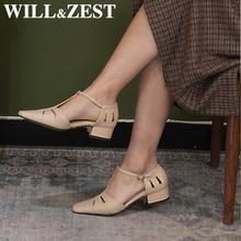 Zal & Zest Vrouwen Sandalen Chunky Lage Hakken Gladiator Designer Luxe Zomer Lederen Strappy Vierkante Donkergroen Hoge Kwaliteit Schoenen