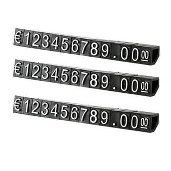 30 комплектов комбинированная Цена Этикетка евро Snap цифра кубики палка для одежды телефон ноутбук ювелирные изделия Витрина Счетчик диспле...