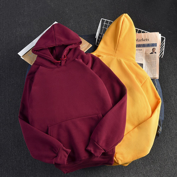 Ailegogo Casual Solid Hooded Hoodies Women Long Sleeve Plus Size Sweatshirts Autumn Pullover Pure Fashion Tops Sudaderas 5