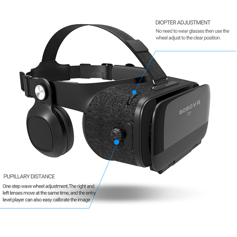 Bobo Bobovr Z5 Casque VR Virtual Reality Glasses 3D Goggles Headset Helmet For Smartphone Smart Phone Viar Binoculars Video Game 1