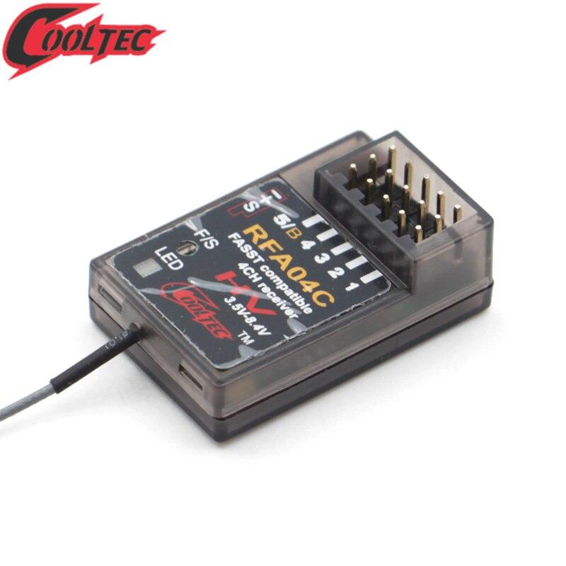 Cooltech RFA04C 4 canaux 2.4g Fasst récepteur compatible pour Futaba 3PK 4PK RC voiture/planeurs/bateau