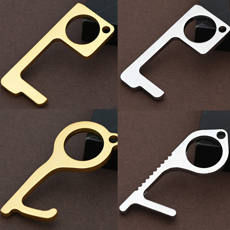 EDC Door Opener Keychain Avoid TOUCH Door Handle Artifact Keychain For Press Elevator Button Door Handle Tool Dropshipping