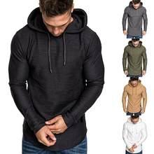 Casual Hoodie Sweatshirt Men Solid Sport Harajuku Long Sleve Plain Hoodie Oversized Hoodie Men's Clothing Tops Coat Pullover Men