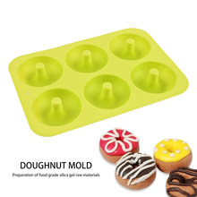 3pcs/set 6-Grid Silicone Donut Maker Mold DIY Dessert Mould Cooking Baking Tools for Household Kitchen Cake Accessories(China)