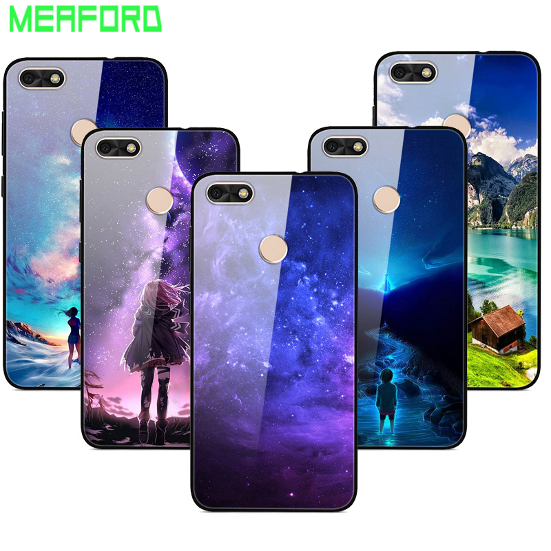 For <font><b>Huawei</b></font> <font><b>P9</b></font> <font><b>Lite</b></font> Mini <font><b>Case</b></font> Tempered <font><b>Glass</b></font> Planet Space Cover <font><b>Glass</b></font> Back <font><b>Case</b></font> for <font><b>Huawei</b></font> Nova <font><b>Lite</b></font> 2017 <font><b>Case</b></font> Y6 Pro 2017 Cover image