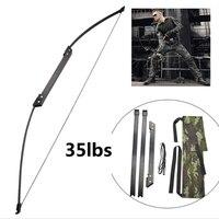 30 50 £ Bogenschießen Folding Takedown Bogen Pull Recurve Longbow Tragbare für Bogenschießen Jagd Schießen Im Freien Spiele-in Pfeil & Bogen aus Sport und Unterhaltung bei