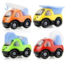 цена на Random Style Mini Engineering Car Cartoon Pull Back Mini Vehicle Model Model Tractor Construction Cars Model for Toys Children