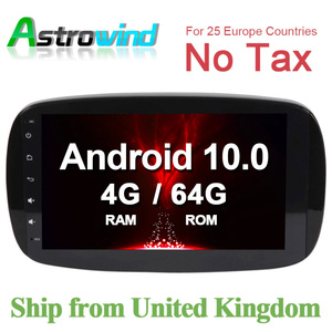 64G ROM Car GPS Navigation System Stereo Media Auto Radio for Mercedes Benz Smart Fortwo C453 A453 W453 2015 2016 2017 2018 JBL(China)