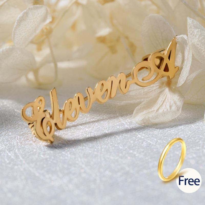 Alfileres de nombre personalizados broches de inicial alfiler para regalo bodas para Mujeres Hombres