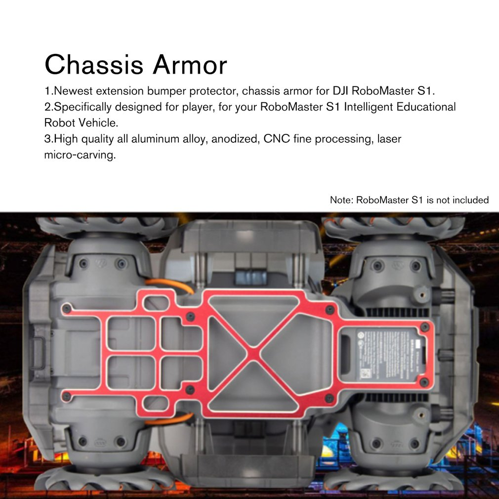 2019 Shield Wheel Fenders Front Bumper Chassis Armo Rear Bumper for DJI Robomaster S1 Robot Vehicle Part Accessories in Parts Accessories from Toys Hobbies