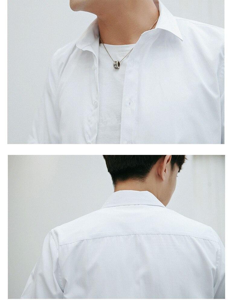 Summer 2020 new men's short-sleeved thin shirt  Slim youth business casual shirt