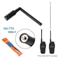 אנטנה עבור baofeng NA774 SMA-F טלסקופיים UHF / VHF מכשיר הקשר מתקפלת אנטנה עבור Baofeng UV5R (5)
