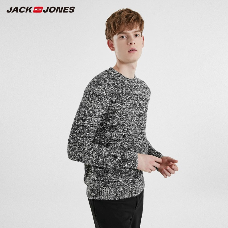 JackJones Men's Casual Colour Long-sleeved Knitwear Sweater 219125509