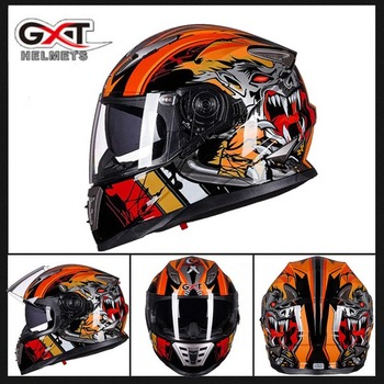 2019 winter New Knight Safety Protection GXT Full Face Motorcycle Helmet Double Lens Motorbikie Helmets made of ABS PC Visor