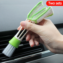 Cleaning Brush For Automobile Outlet Air Conditioning Cleaning Dust Cleaning Mud Multi-functional Double-end Cleaning Supplies multifuctional double headed car air outlet cleaning brush
