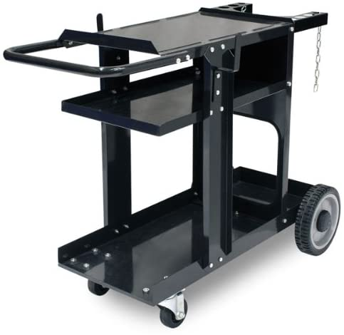 MIG TIG ARC MMA Welder Plasma Cutter  Welding Durable Cart With 350 Lbs Weight Capacity 3 Shelves Cable And Gas Bottle Storage