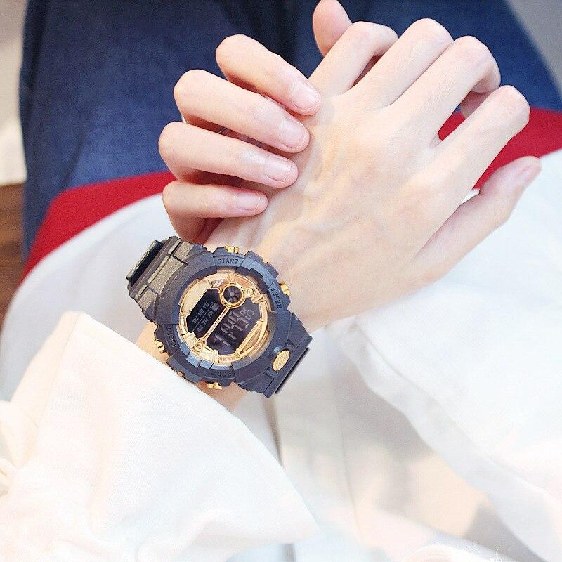 Hot Sale Fashion Silicone Women Sports Watches Outdoor Sport Waterproof Led Kids Watch Black Boy Girl Wristwatch Montre Femme