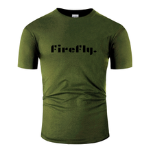 Breathable Firefly Mood Chic Custom Gift Ideas T-Shirt Male Female Trend Army Green Tee Shirt Anti-Wrinkle Gift Cotton(China)