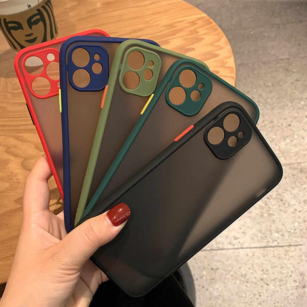 Protecteur de Téléphone Pour iPhone 11 Pro Max Cas Mat Antichoc Pour iPhone 6 6s 7 8 Plus X Max XR SE 2020 Pare-chocs