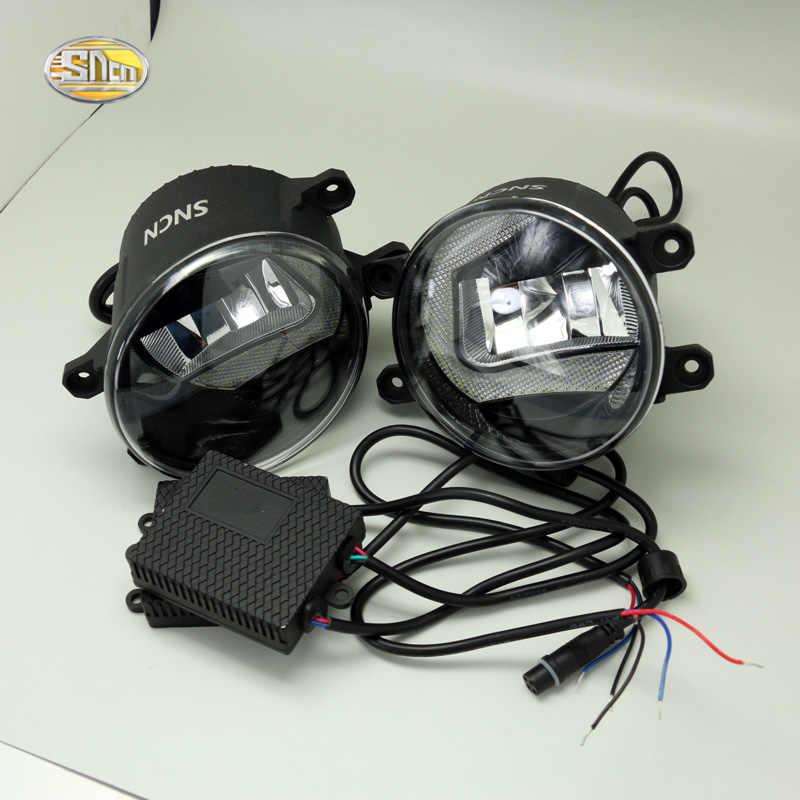 SNCN lámpara antiniebla LED para Toyota Yaris Puris Verso Matrix Avalon, Corolla Auris luces de circulación diurna vidrio base DE ACERO INOXIDABLE