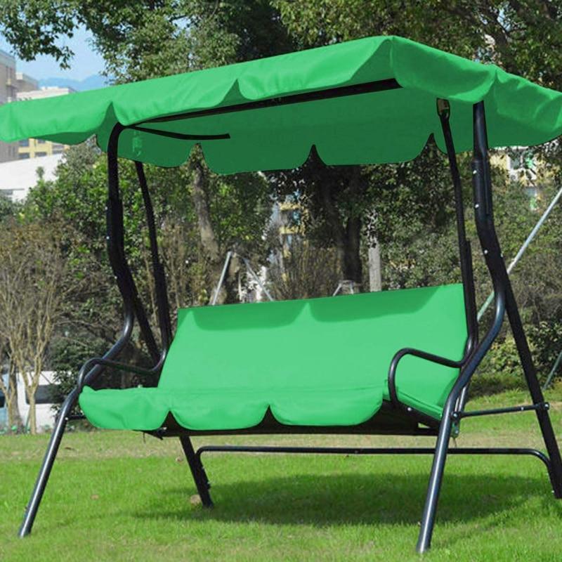 3 Seat Swing Canopies Seat Cushion Cover Set Patio Swing Chair Hammock Replacement Waterproof Garden 1