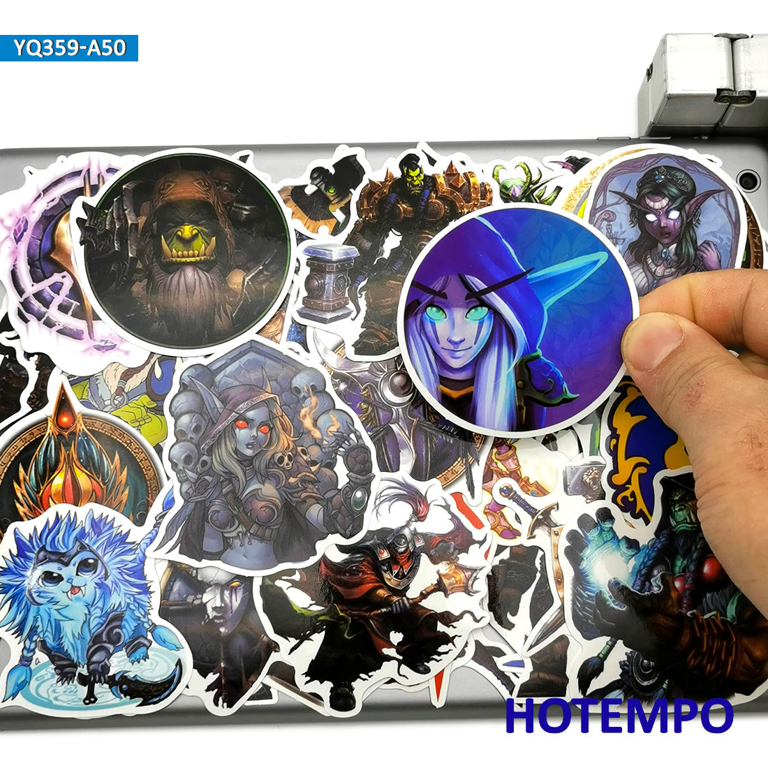 50pcs Classic Game Azeroth World Anime Style Stickers Toy For Kid Mobile Phone Laptop Luggage Case Skateboard Car Decal Stickers