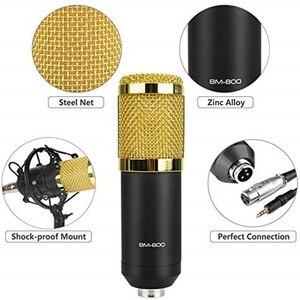 Image 2 - BM 800 가라오케 마이크 BM800 스튜디오 콘덴서 mikrofon 마이크 bm 800 KTV 라디오 Braodcasting 노래 녹음 컴퓨터