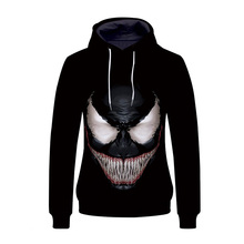 DM COS New Role-playing Movie Venom Clothing Jacket Sweater Marvel Hooded  2019 Fashion Mens