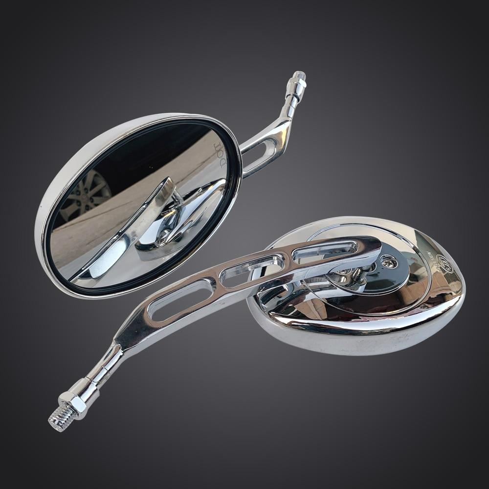 Мотоциклетное овальное хромированное зеркало заднего вида, универсальное боковое зеркало для мотоцикла Suzuki dl 650 v Открытый sv650 sv1000 Intruder 800