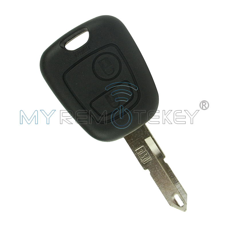 Fits to Peugeot 206 2 buttons FOB car REMOTE KEY 433MHz with transponder chip remtekey in Car Key from Automobiles Motorcycles
