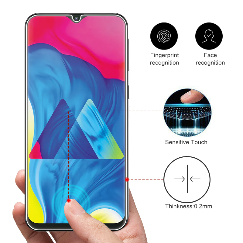 Image 2 - Tempered Glass For Samsung Galaxy A50 A30 A20E A40S M30 M20 M10 Screen Protector Glass On A 10 20 40 60 70 80 90 Protective Film-in Phone Screen Protectors from Cellphones & Telecommunications
