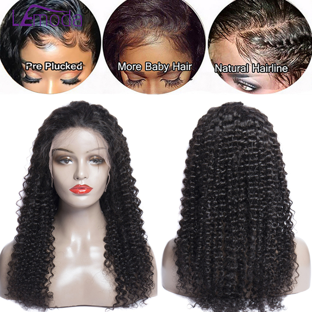 Curly Human Hair Wig Preplucked Malaysian Wig Natural Long Remy Hair 13x4 Glueless Lace Front Human Hair Wigs For Black Women 1