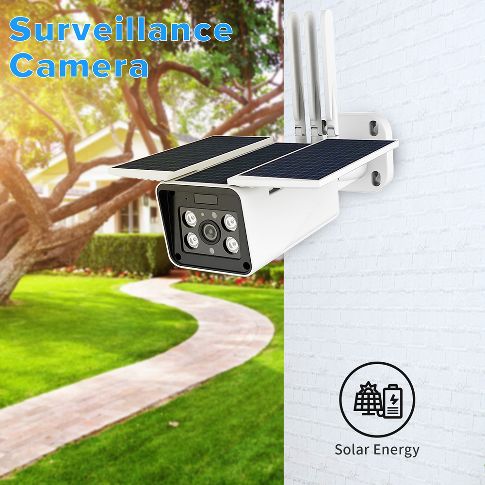 A-ZONE Solar Wifi Camera Outdoor Wireless IP Security Camera IP67 Waterproof PIR Outdoor Solar CCTV Surveillance Video Camera