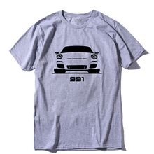 COOLMIND CA0105A 100% cotton short sleeve 991 sport car print men T shirt casual summer tshirt male t-shirt tee shirts pthd