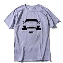 COOLMIND CA0105A 100% cotton short sleeve 991 sport car print men T shirt casual summer tshirt male t-shirt tee shirts pthd