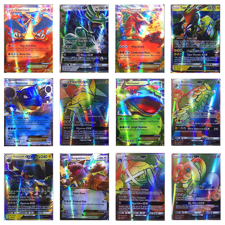 200 шт., 25, 50, 100 шт., GX, EX Shining, карточные игры, Battle Carte, торговые карты, игра, детская игрушка