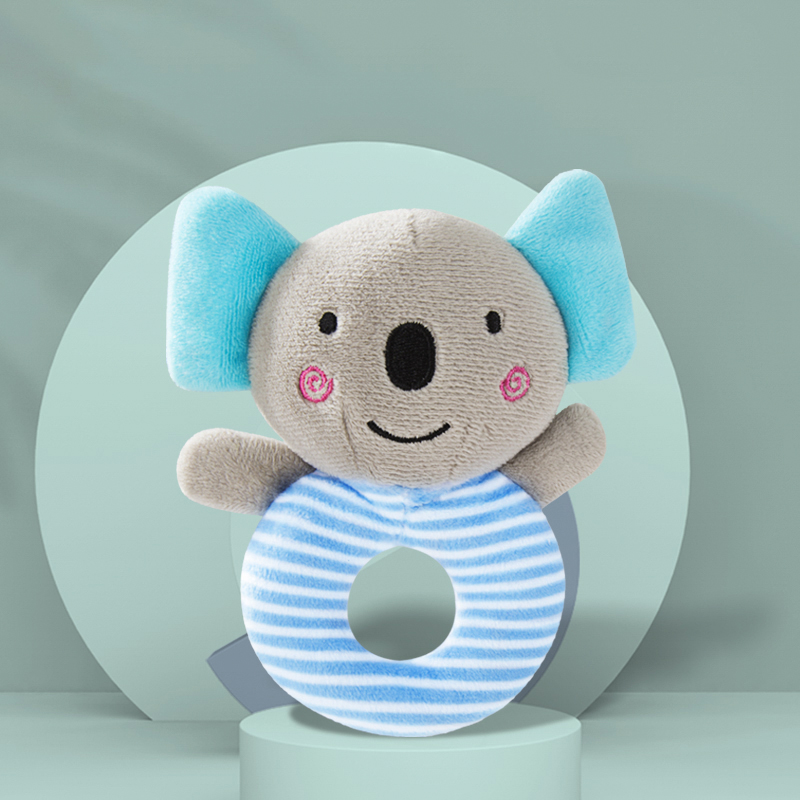 Cartoon Koala Shake Bell Rattles Hand Toy For Baby And Newborn Baby Rattles