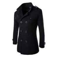 URSPORTTECH осенне-зимний Тренч Мужская брендовая одежда Высокое качество мужской Тренч 2019 новый модный дизайнерский мужское длинное пальто
