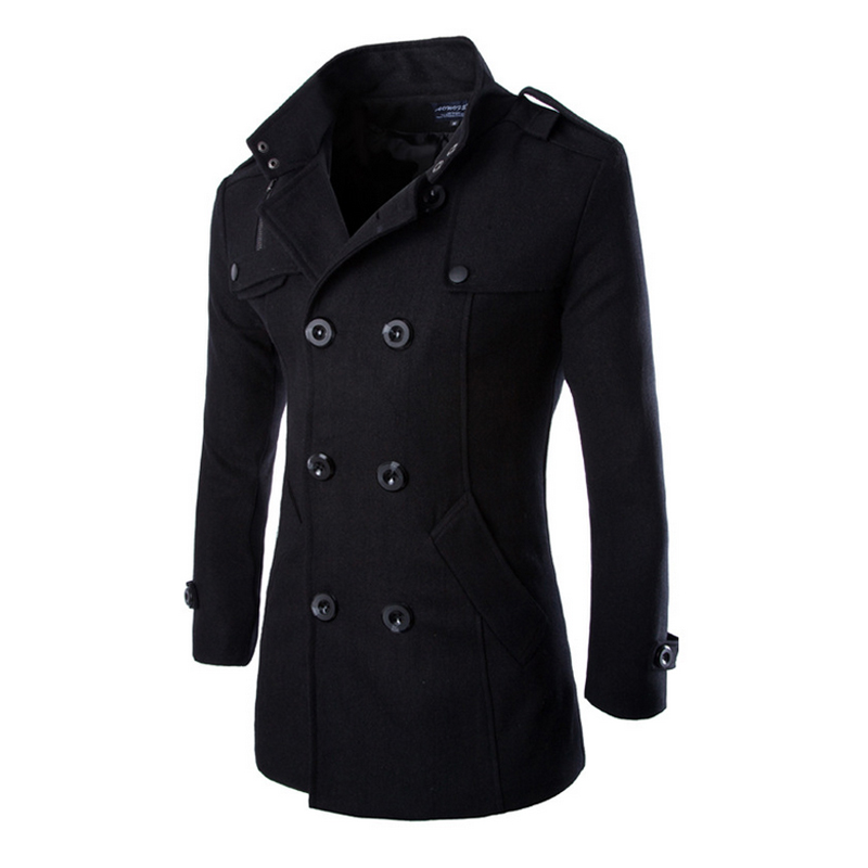 URSPORTTECH Autumn Winter Trench Coat Men Brand Clothing Top Quality Male Trench Coat 2019 New Fashion Designer Men Long Coat