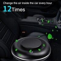 Carro multi-função purificador de ar fragrância ânion usb de carregamento do carro barra de oxigênio ambientador com 4 peças de comprimidos de aromaterapia