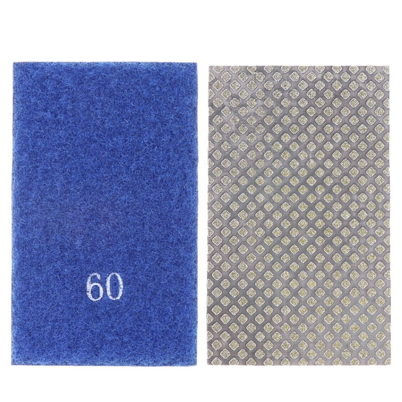 New Electroplated Diamond Hand Polishing Pad Strip 60-3500 Grit Hook And Loop Backed