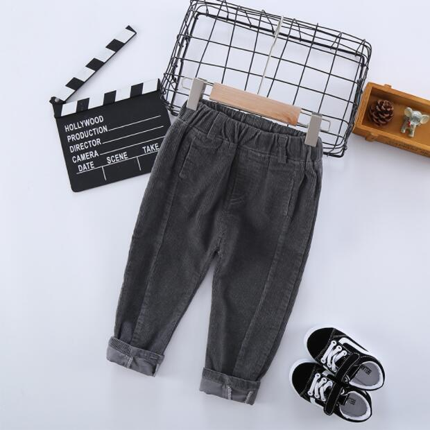 2020 Hot Sell Children Corduroy Trousers Boys Girls Long Cotton Trousers Spring Autumn Casual Pants Girls Kids Crawlers Clothing 4