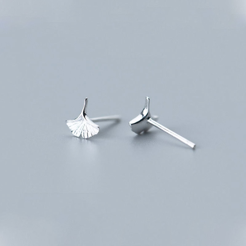 Kara&Kale Jewelry Cute Lucky Leaf 925 Sterling Silver Stud Earrings Small Fashion For Women SYED001