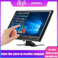 """HD pantalla táctil 10,1 """"monitor 1920*1200 pantalla LCD con BNC/AV/VGA/HDMI/USB/altavoz industrial capacitiva pantalla LCD para raspberry pi"""