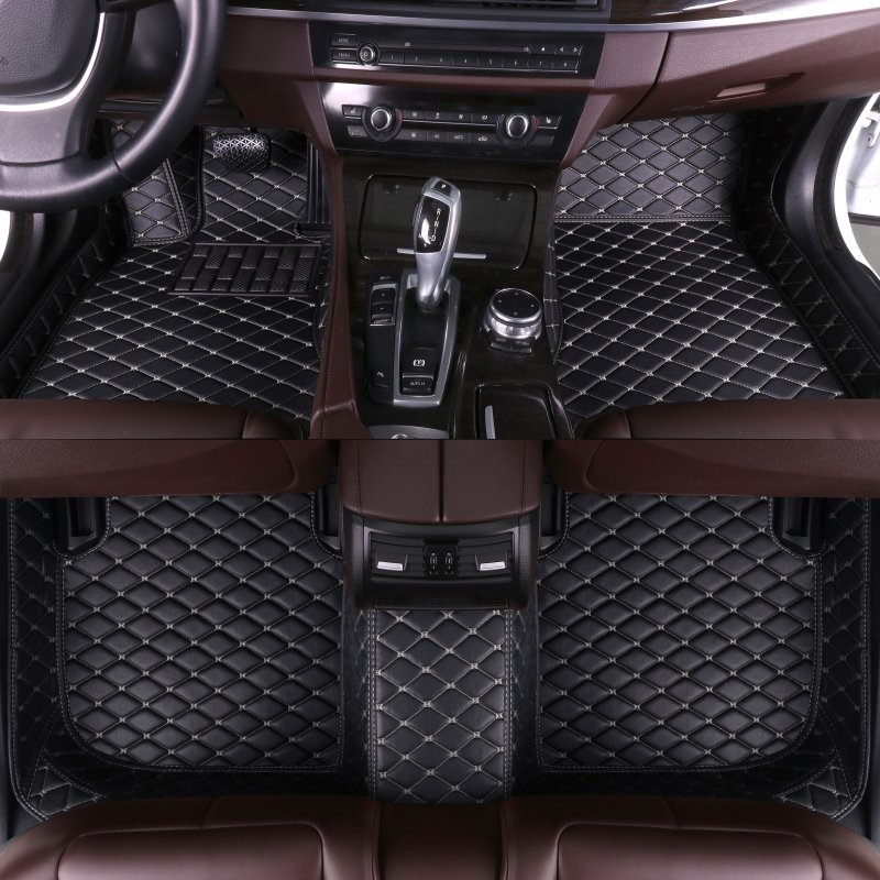 Custom Car Floor Mats for Volvo XC70 2007-2011 V60 2011-2018 2020 V40 2013-2019 S90 2016 2017 Auto Accessories Leather