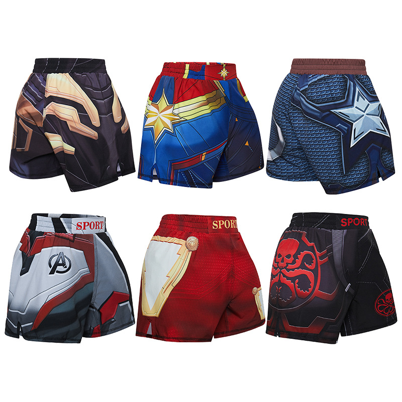 Shorts Boxing-Trunks Running MMA Sprot-Pants Fight Grappling Animal-Printed Kids Children's