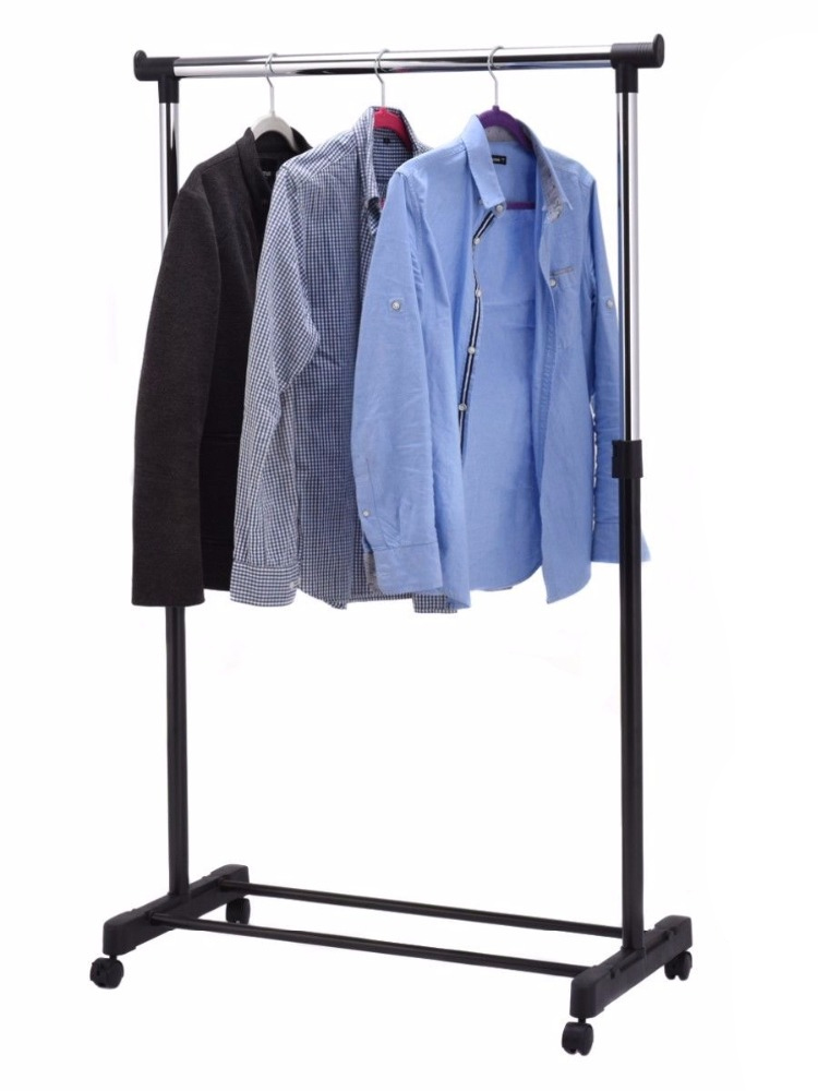COSTWAY Hanger Shoe-Rack Clothing Wardrobe Drying-Racks Storage Adjustable with HW53829