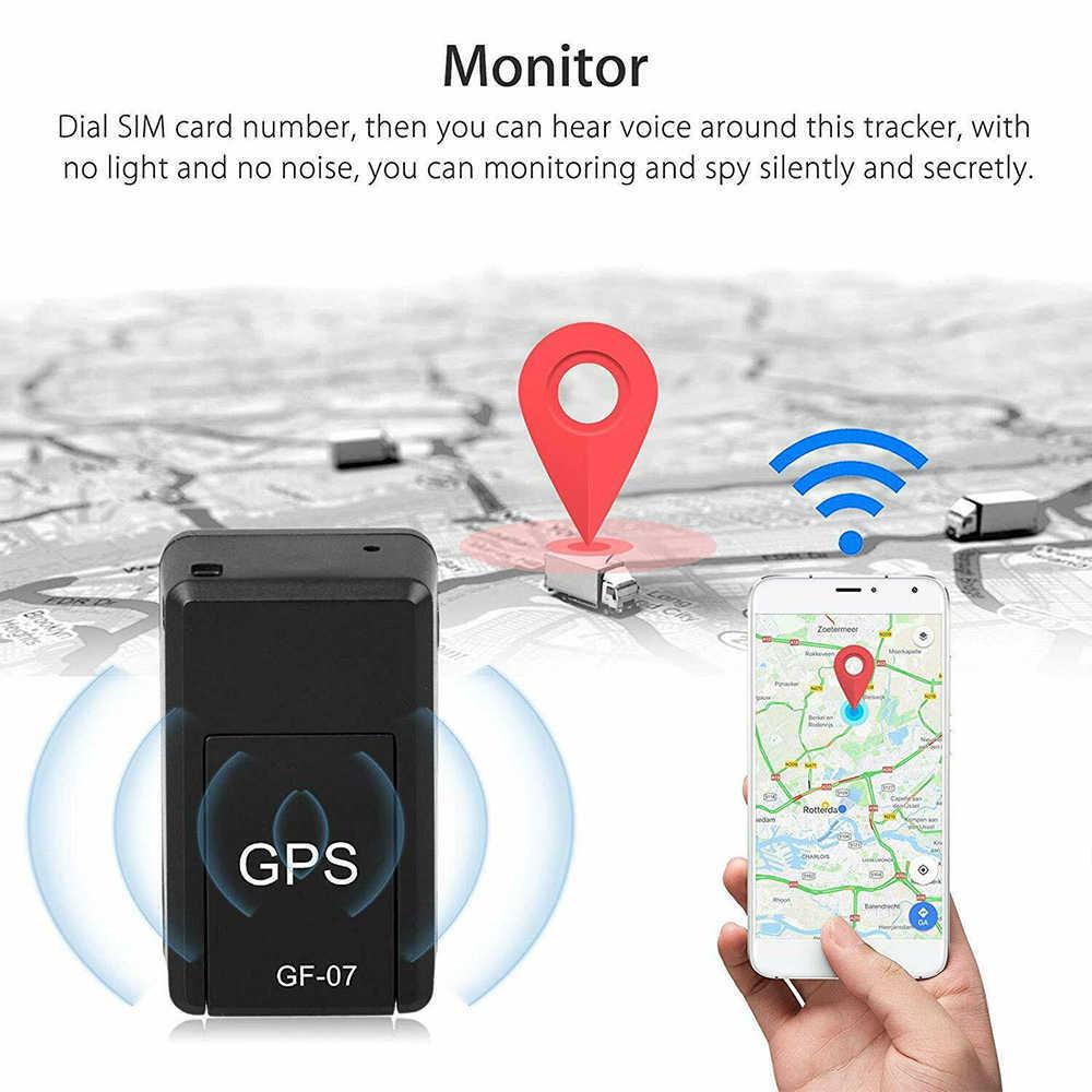 GF07 GSM GPRS Mini Car GPS Tracker Magnetic รถบรรทุกรถบรรทุก GPS Locator Anti-Lost การบันทึกติดตามอุปกรณ์เสียงควบคุม